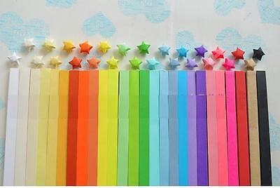 270 Strips - 27 Colors Origami Craft DIY Paper Lucky Luck Star