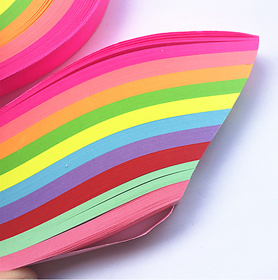 500 Strips - 10 Colors Origami Craft DIY Paper Star
