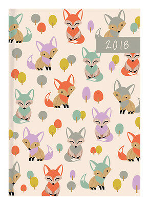 Diary 2018 Debden Woodland Flair Fox A5 Day to Page P5101 22x15.5cm