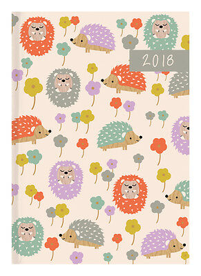Diary 2018 Debden Woodland Flair Hedgehog A5 Day to Page P5101 22x15.5cm