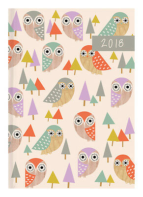 Diary 2018 Debden Woodland Flair Owl A5 Day to Page P5101 22x15.5cm