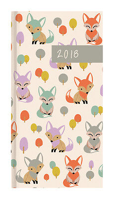 Diary 2018 Debden Woodland Flair Fox Pocket Week to View P6701 15x8cm