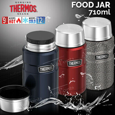 NEW Thermos Stainless Steel Food Jar Vacuum Insulated Container Hot/Cold 710ml