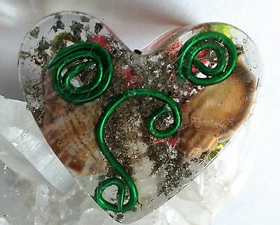 Handmade Heart Orgonite
