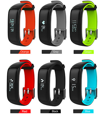 P1+ Heart Rate Waterproof Pedometer Step Counter Activity Tracker Fitness Watch