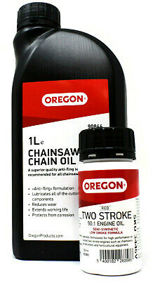 1 LITRE GENUINE STIHL SYNTH PLUS CHAINSAW CHAIN BLADE OIL + 100ml TWO STROKE OIL