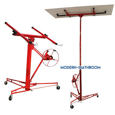 11Ft Drywall Caster Plaster Board Lift Rolling Panel Hoist Sheet Lifter Workshop