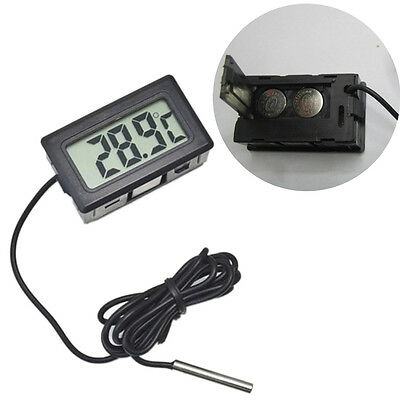 Digital Electronic Thermometer Embedded Temperature Meter Probe Water Outdoor YG