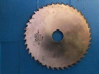 "HSS Milling Slitting Slotting Cutter Saw 6"" x 5/32"" x 1"". THE SIMMONS SAWS. New"
