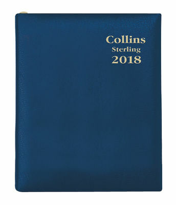 Diary 2018 Debden Collins Sterling Navy A7 Day to Page + PENCIL 133P.P59 10x7cm