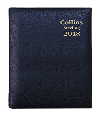 Diary 2018 Debden Collins Sterling Black A7 Week to View +PENCIL 333P.P99 10x7cm