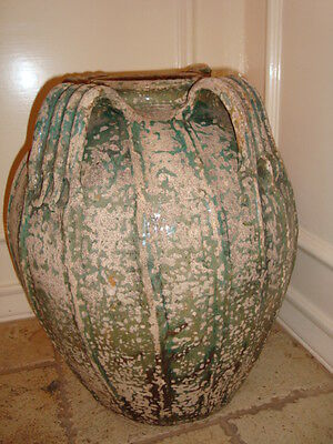 Antique large French terracotta jar jug pitcher South France, circa 1780, h-19""