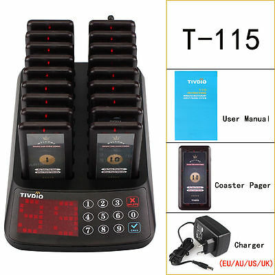 Restaurant Coaster Pagers Wireless Guest Calling Paging Queuing System Set 99CH
