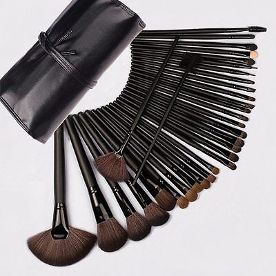 Set Pennelli Make Up Da 24 Pz Professionali Con Custodia