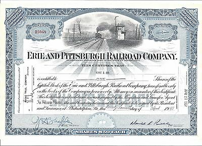 Erie And Pittsburgh Railroad Company...1967 Stock Certificate