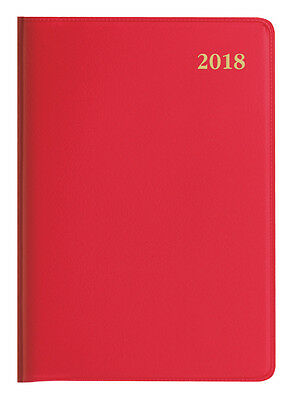 Diary 2018 Debden Belmont Colours Red A7 Week to View + PENCIL 337P.V33 11x8cm