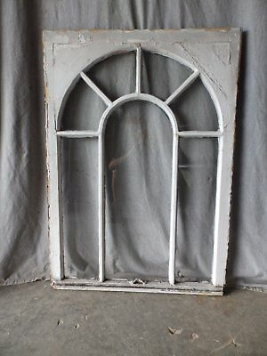 Antique Palladian Window Dome 7 Lite Arch Top Cabinet Shabby Chic 40X29 68-17P