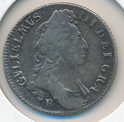 Great Britain William III Shilling 1697 B - Circ