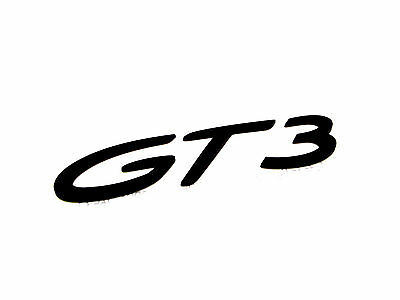 New Genuine Porsche GT3 Script Rear Badge In Black 991 GT3