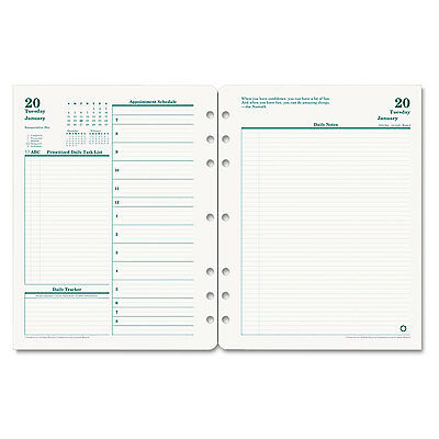Original Dated Daily Planner Refill, January-December, 8 1/2 X 11, 2017-FDP35427
