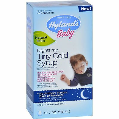 Hylands Homepathic Cold Syrup - Nighttime Tiny - Baby - 4 fl oz-1560879