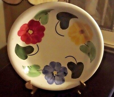 "Blue Ridge Pottery Unmarked Flower Ring Pattern  10"" Pie Dish"