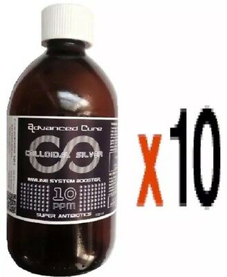 (10 X 500ml) UK BEST High Voltage Colloidal Silver 10ppm (BEST QUALITY)