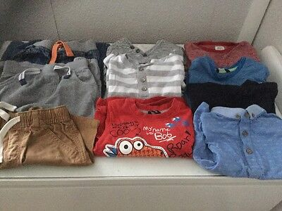 Baby Boy Bundle 12-18 Months Next/George/m&s/m&co Summer/tops/trousers/shorts