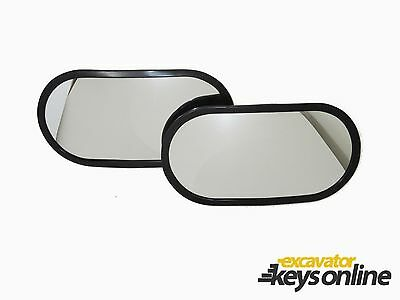 """New 2 Hitachi Rear View Mirrors (6.2""""x12"""") Part  Number 4420724 / 4416704"""