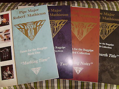 P/m Robert Mathieson Music Books For Bagpipe Complete Collection  Volumes 1 To 4
