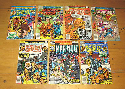 Vintage Marvel & Fantastic Four Comic Book  lot of 7 books 1970's  FREE SHIPPING
