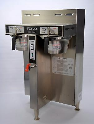 Fetco CBS-52H Twin Dual 1.5-Gallon Thermal Coffee Brewer Commercial Machine
