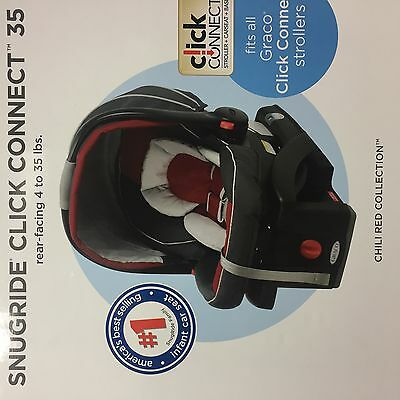 Graco Snugride Click Connect 35 Infant Car Seat w/base - Chili Red collection