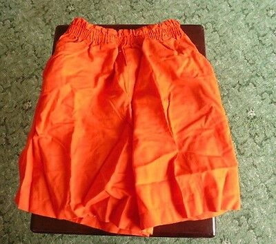 Girls Marks & Spencer Cotton Shorts - Age 9/10 - Flame - c 1992