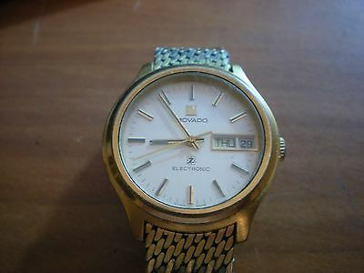 Rare Vintage Men's Watch Movado Electronic Day&date,zenith Movement 50.5,swiss