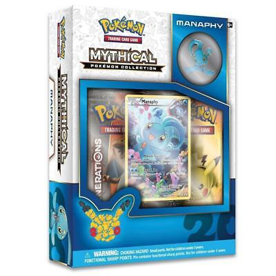 Mythical Pokemon Collection Manaphy Sealed Box + Generations Booster Packs + Pin