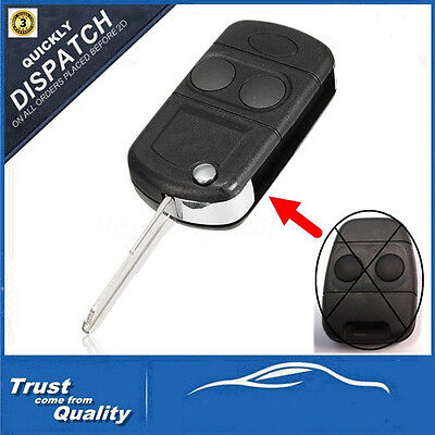 2 Buttons Remote Flip Key Case For Land Rover Discovery Freelander MK1 TD4 5 New