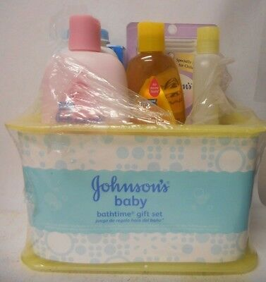 Johnson's Bathtime Gift Set For Parents-To-Be Caddy With Bath Essentials A3
