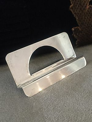Vintage Tiffany & Co Sterling Silver Desk Top Business Card Holder Stand