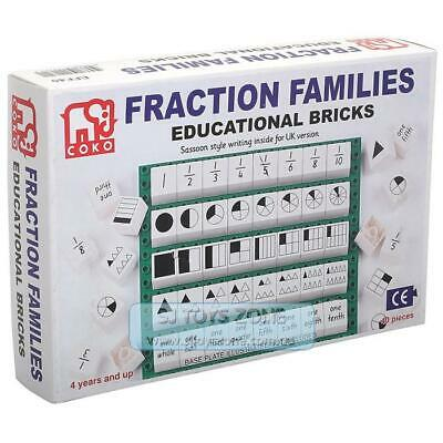 COKO Fraction Families Educational Bricks 40 Pieces Learning Game Toy for Kids