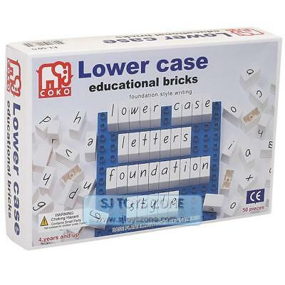 COKO Lower Case Letters Educational Bricks 50 Pieces Learning Game Toy for Kids