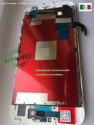 TOUCH SCREEN LCD DISPLAY RETINA PER APPLE IPHONE 7 VETRO SCHERMO + FRAME + kit