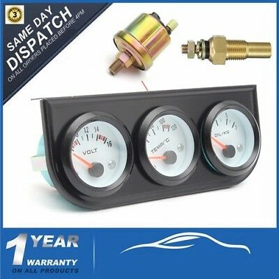 52mm 2'' 3 CAR LED Pointer - Voltmeter & Water Thermometer & Oil Pressure Gauge