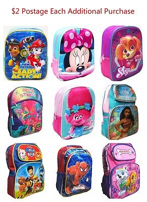 New Backpack Kids Boy Girl Daycare Preschool School Bag Xmas Gift