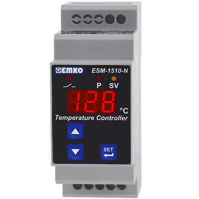 DIN Rail Temperature Controller HEATING COOLING THERMOSTAT Thermocouple J K PTC