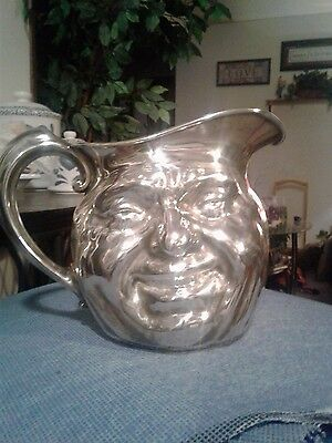 VNTG REED & BARTON 5640 Silverplate SUNNY JIM Water Pitcher Smiley Face Antique