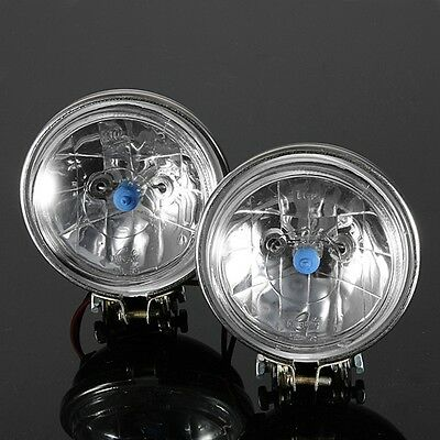 2x 3.5'' 55W Angel Eye Halogen Car Headlight Fog Light Reverse Lamp Driving 12V