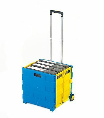 GPC Large Folding Box Truck GI041Y - Blue and Yellow Pack of 1
