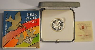 Vatican Silver Proof 2006 5 Euro World Day of Peace KM# 395
