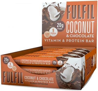 Fulfil Protein Bars Low Sugar & Carb x 15 - from 1=£17, 2=£33 - eBay's cheapest!